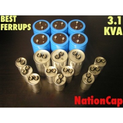 AC and DC Capacitors and Fans Upgrade Kit for Best Ferrups 3.1KVA UPS USA Model 208vac/480vac