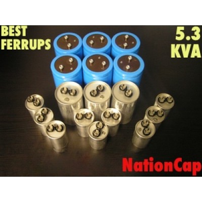 AC and DC Capacitors and Fans Upgrade Kit for Best Ferrups 5.3KVA UPS USA Model 208vac/480vac