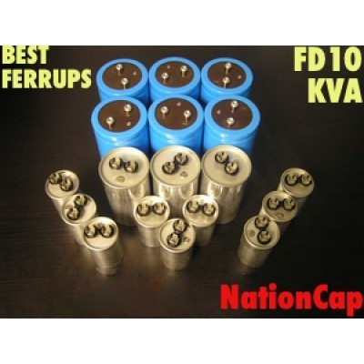 AC and DC capacitors and Fans Upgrade Kit for Best Ferrups FD10KVA UPS USA Model 208Vac/480Vac