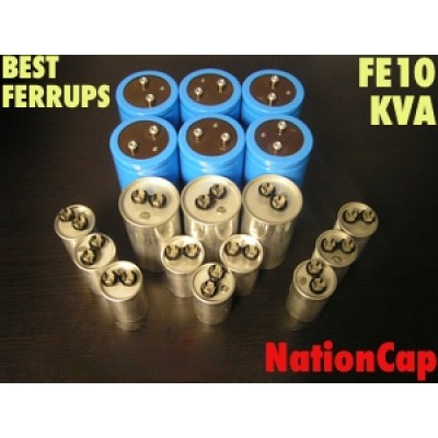 AC and DC Capacitors and Fans Upgrade Kit for Best Ferrups FE10KVA UPS USA Model 208vac/480vac