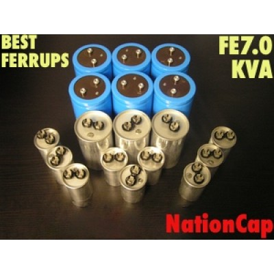 AC and DC capacitors and Fans Upgrade kit for Best Ferrups FE7.0KVA UPS USA Model 208vac/480vac