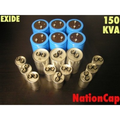 AC and DC Capacitors and Fans Upgrade Kit for Exide System 150ES 150KVA UPS USA Model 208Vac/480Vac