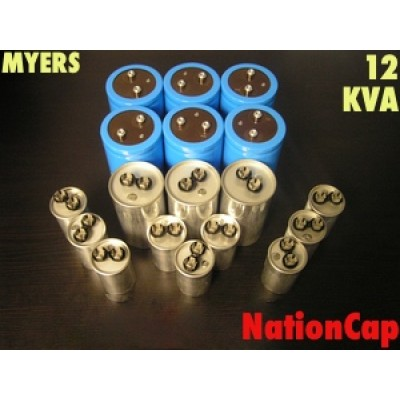 AC and DC capacitors and Fans Upgrade Kit for Myers 12KVA UPS USA Model 208Vac/480Vac